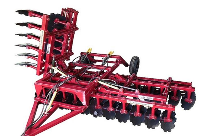 Semi-mounted disc harrows AHS and AHSF